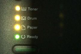 兄弟brother HL-2260D 四个灯闪,无法打印